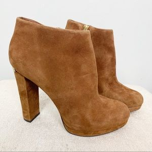 Michael Kors Brown Suede Chunky Haven Bootie 7.5